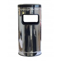 Lixeira Chicleteiro / Cinzeiro inox aro plástico 24x50 25L - MSP 555